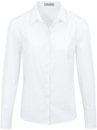 Skjorte hulbroderi ved krave og manchet Fra Uta Raasch hvid - Peter Hahn