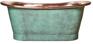 Franklin badekar L170 x B77 x H72 cm - Korroderet kobber