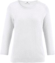Rundhalasad tröja i 100% SUPIMA®-bomull från Peter Hahn vit