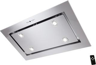 Tak-integrerad köksfläkt LYXOR borstat rostfritt stål: INTERN eller EXTERN motor