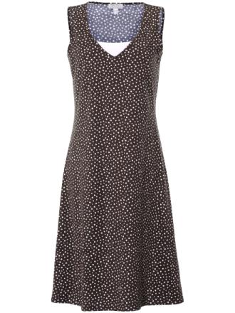 Prickig klänning breda axelband från Green Cotton mångfärgad