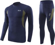 Men Skiing Underwear Set Long Johns Men Thermal Underwear Sets Quick Dry Ski Jacket and Pants For Skiing/hiking/Riding