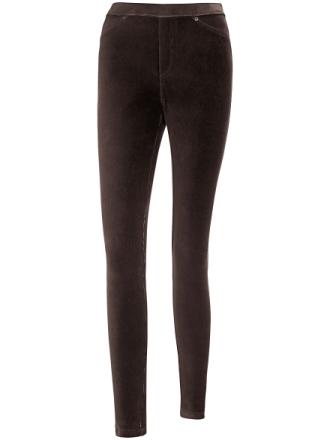 Bekvem fløjlsbuks - model Sylvia Fra Peter Hahn brun