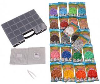 Stor Perlepakke - 22.000 Hama Midi Perler (22x1000 forskjellige farge
