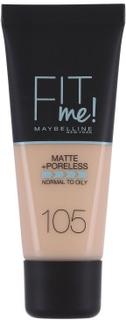 Maybelline Fit Me Matte & Poreless Foundation 105 Natural Ivory 30 ml