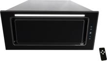 Inbyggnadsfläkt LINEA LYX svart glas 60 cm/ 90 cm + LED