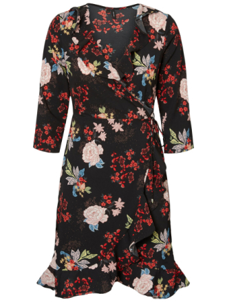 VERO MODA Floral Dress Women Black