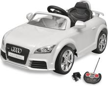 vidaXL Elbil för barn Audi TT RS med fjärrstyrning vit