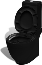 vidaXL Toalettstol keramisk svart