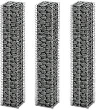 vidaXL Gabionkorg set 3 st galvaniserad tråd 25 x 25 x 150 cm