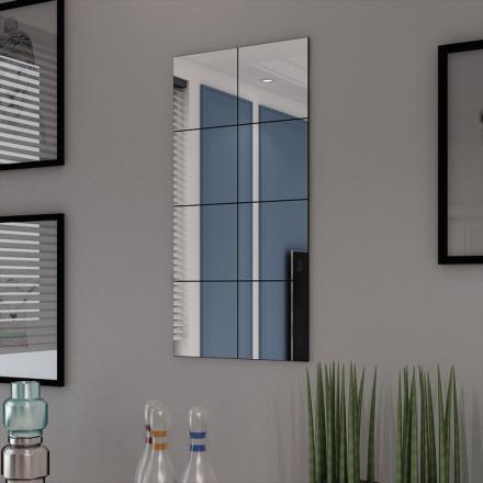 vidaXL Ramlösa spegelplattor glas 8 st 20,5 cm