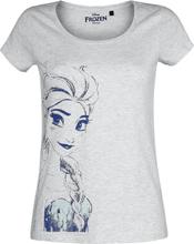 Frozen - Elsa -T-skjorte - gråmelert