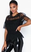 Vero Moda Vmwauw S/S Lace Mesh Top SB1