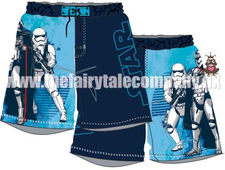 Star Wars badeshorts, blå - TheFairytaleCompany