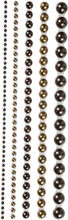 Halv-perler, brun, str. 2-8 mm, 140 stk./ 1 pk.