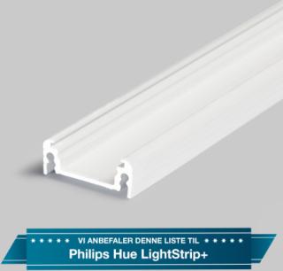 Aluminiumsprofil - Model S til Philips Hue LightStrip Plus