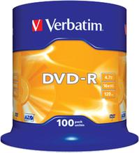 DVD-R 16x 4,7GB spindle, 100 stk