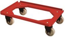 Mini moove tralle, standard, rød, m. 4 hjul, 60x40 cm
