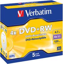 DVD+RW 4.7GB 4x Jewel Case (5)