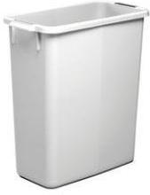 Beholder i grå plast, fødevaregodkendt, 60 L