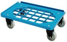 Mini Moove tralle, m. gitterramme, blå, m. 4 hjul, 60x40 cm