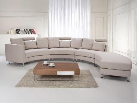Rund Sofa Beige Rotunde