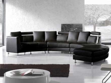 Rund Sofa Sort Rotunde