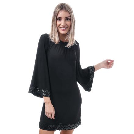 Womens Mela London paljett gränsen klänning i svart 12