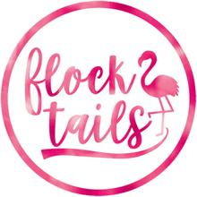 18 stk Flock Tails Glassbrikker med Flamingo-Motiv