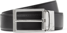 3cm Black And Brown Reversible Leather Belt - Black