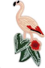 Flamingo og Blader - 11 cm Strykemerke