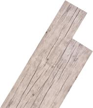 vidaXL Självhäftande PVC-golvplankor 5,02 m² 2 mm ekfärgad