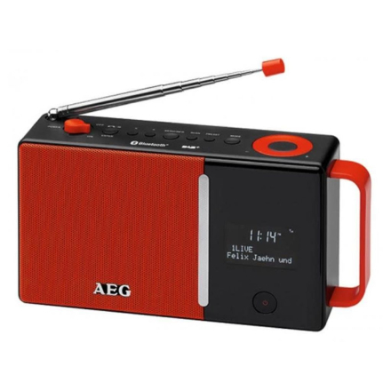 AEG digital DAB+-radio DAB 4158 rød og sort