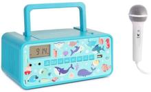 Kidsbox Underwater CD Boombox CD-player BT FM USB LED-display turkos