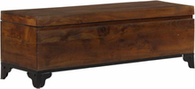 vidaXL Förvaringskista massivt akaciaträ 120x35x40 cm brun