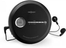 CDC 100 MP3 Discman CD-Spelare bärbar Antishock ESP Micro-USB svart
