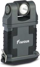 FAVOUR Arbetslampa EDCLIP grå och svart T2342