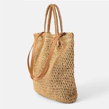 Weaving Hollow Paper straw bag shoulder bag female beach bag, girl fashion travel bag women casual tote