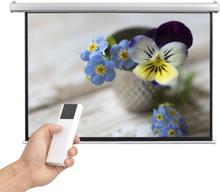 vidaXL elektrisk projektorlærred med fjernbetjening 160 x 90 cm 16:9
