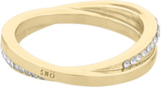 SNÖ of Sweden Connected Small Ring Gold/Clear