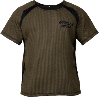 Gorilla Wear Augustine Old School Work Out Top - Army Green
