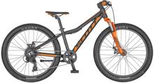 "Scott Scale JR 24"" Disc Barncykel Svart/Orange, Shimano Tourney 8s, 12kg"