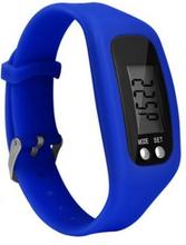 Stegräknare Pedometer Klock-modell Skön att bära - Mörkblå