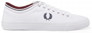 FRED PERRY Kendrick Tipped Vit Canvas Herr (40)