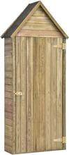 vidaXL Redskapsbod med dörr 77x37x178 cm impregnerad furu