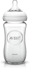 Philips AVENT Naturliche Futterung-Flaschen-240ml Glasnuckel A Slow Flow 1M +