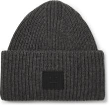 Acne Studios - Logo-appliquéd Ribbed Wool Beanie - Gray