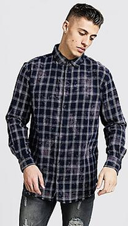 Bleached Loose Fit Check Shirt