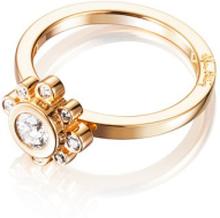 Efva Attling Sweet Hearts Crown Ring Guld 0,30 Ct