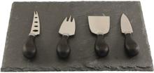 ØYO Cheese Set 4 Knifes And Slate kniver Sort OneSize
